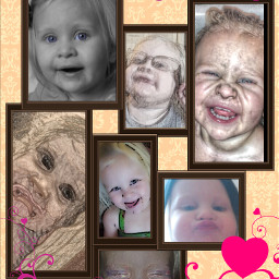 baby collage colorful cute photography