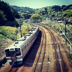 japan photography hdr landscape train