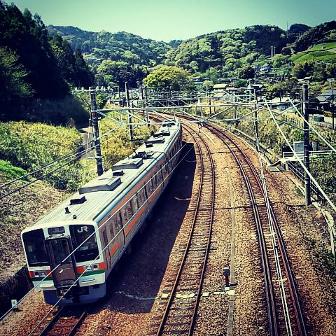 japan photography hdr landscape train
