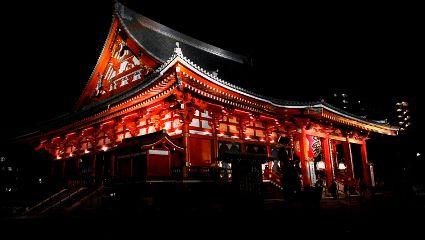 tokyo japan retro colorful love temple