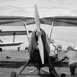 photography black & white people show flight plane