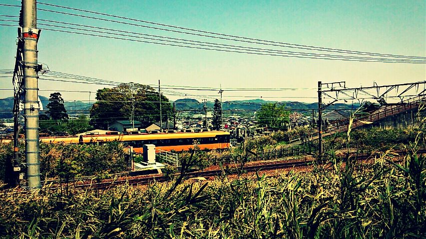 photography japan spring landscape train hdr